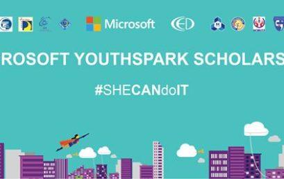 Học Bổng Microsofft– Youthspark Dành Cho Nữ Sinh Ngành Khoa Học Máy Tính Và Công Nghệ Thông Tin Năm Học 2018 – 2019