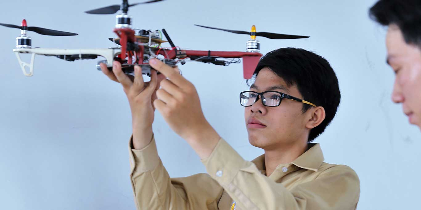 Sinh viên ngành điện, đam mê với ứng dụng công nghệ