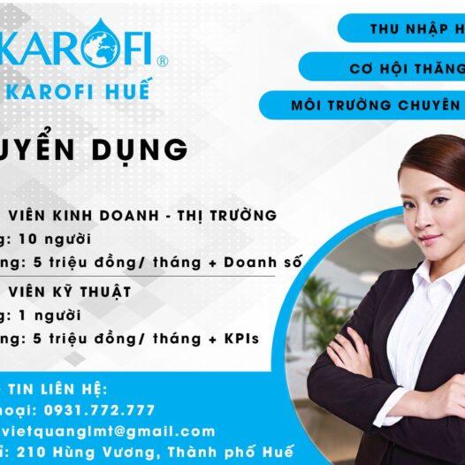 KAROFI Huế tuyển dụng